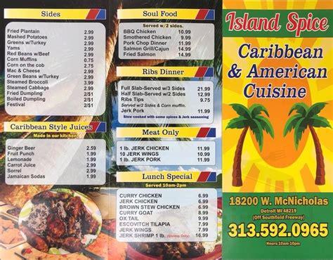 Caribbean Restaurant Menu