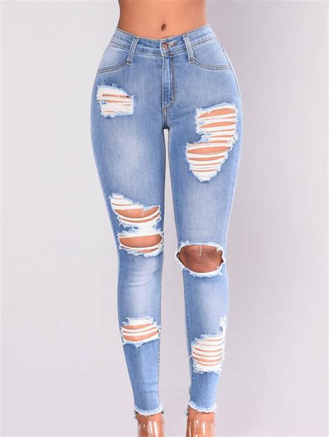 Destroyed Skinny Jeans for Women