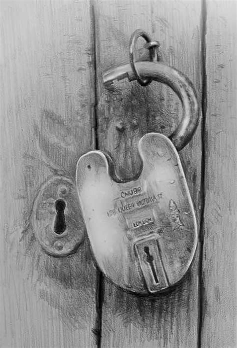 Door Lock Drawing