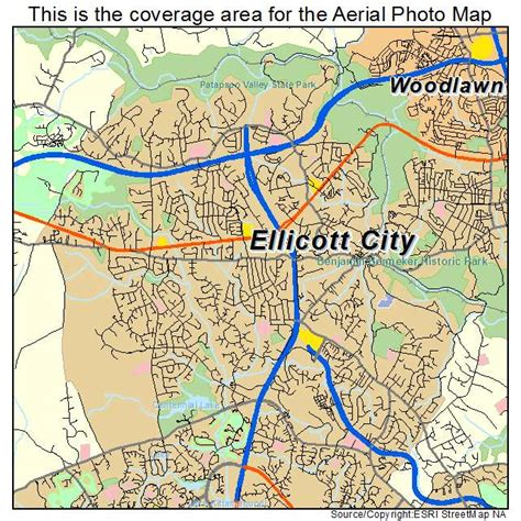 Ellicott City Maryland Map