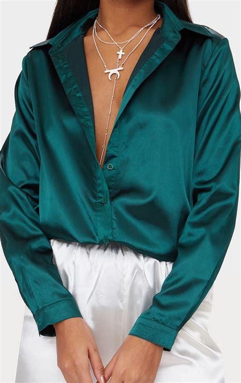 Emerald Green Shirts for Women