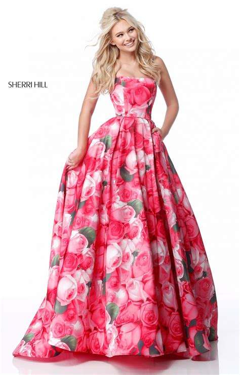 Floral Prom Dress Sherri Hill