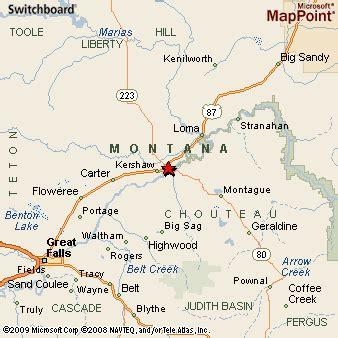 Fort Benton Montana Map