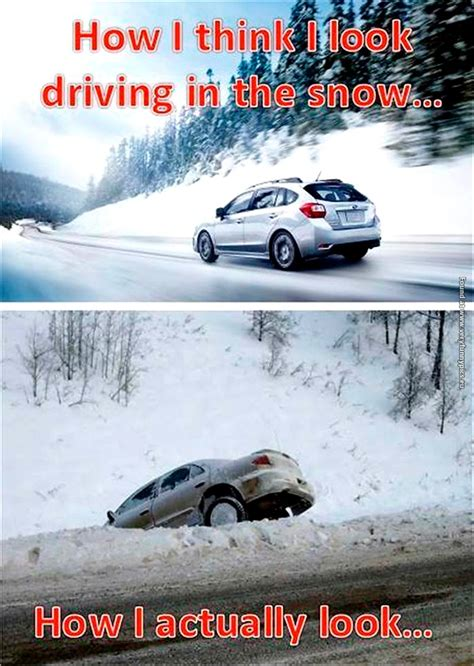 Funny Driving in Snow