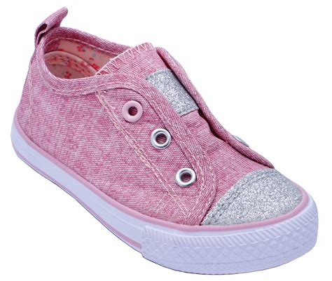 Girls Pink Canvas Shoes