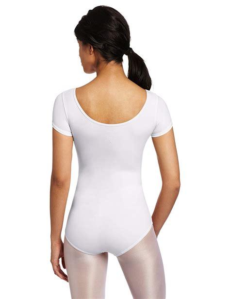 Girls White Short Sleeve Leotard