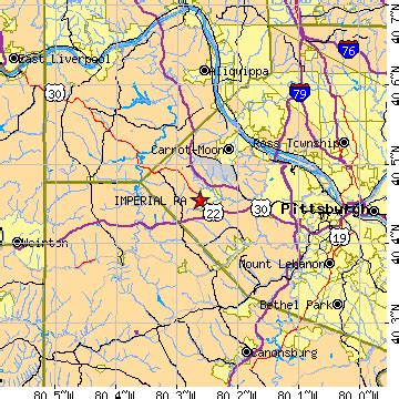 Imperial Pennsylvania Map