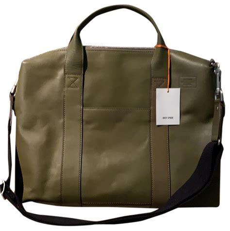Jack Spade Leather Laptop Bag