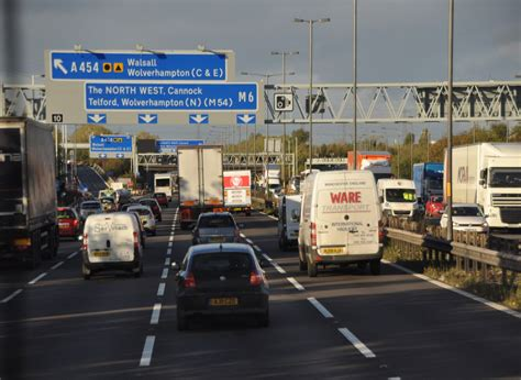 M6 Motorway Birmingham