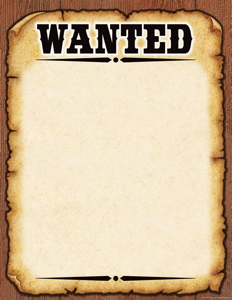 Make Your Own Wanted Sign