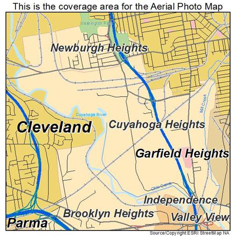 Map of Cuyahoga Heights Ohio