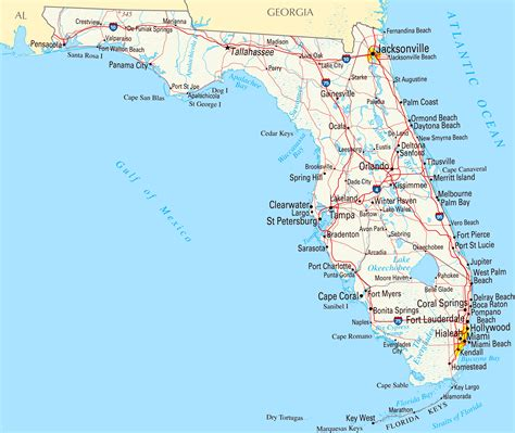 Galerry Florida Kort © European Map Graphics
