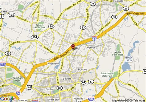 Map of Vernon Rockville CT