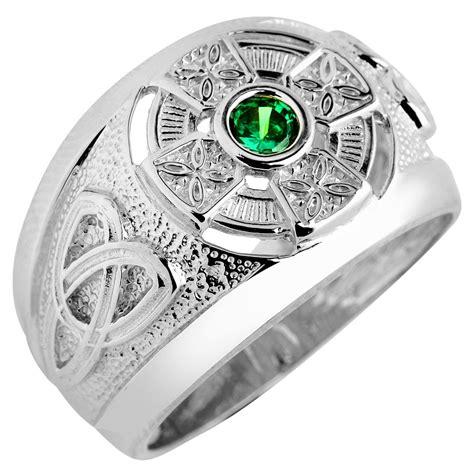 Men's Celtic Emerald Rings