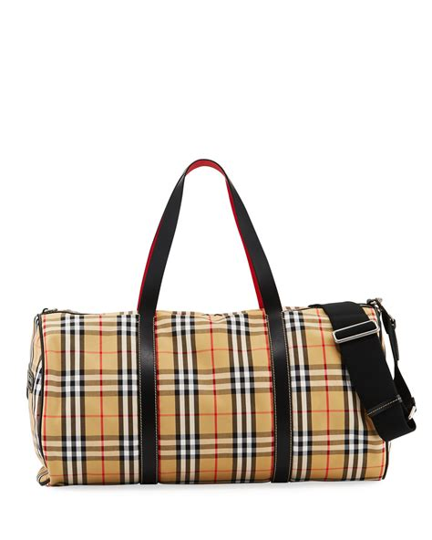 Men Burberry Check Bag