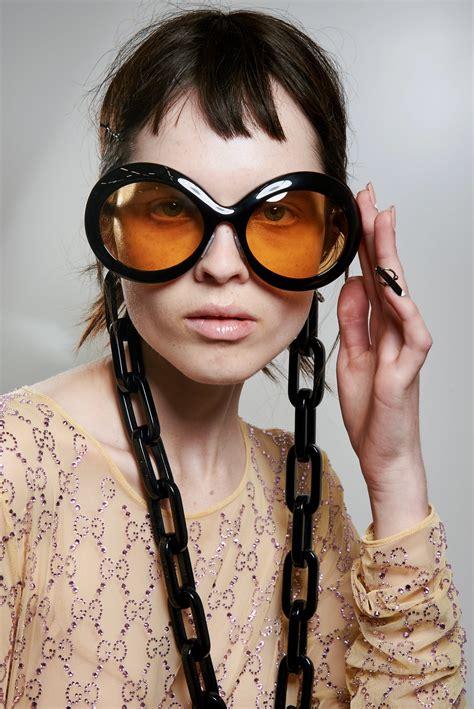 Model Wearing Designer Sunglasses