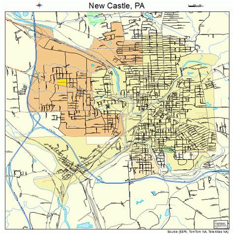 New Castle PA Map