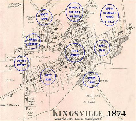 Old Map of Kingsville OH