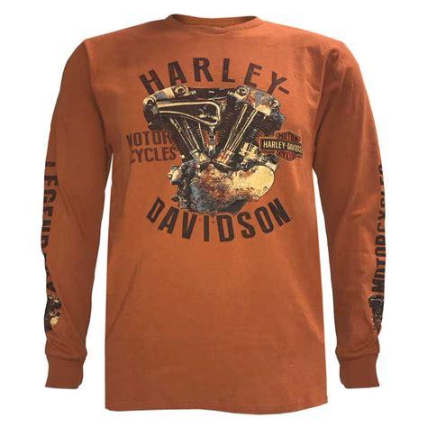 Orange Harley Shirts for Men