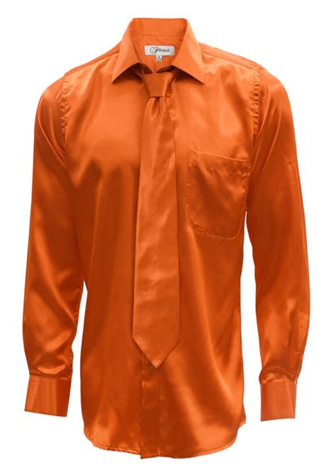 Orange Men's Dress Shirt