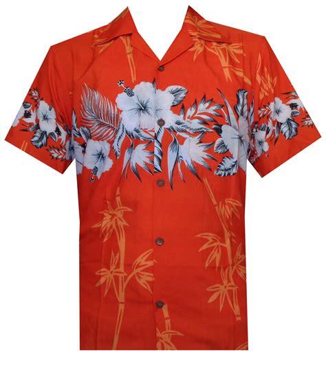 Orange Men's Hawaiian Shirts