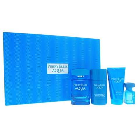 Perry Ellis Aqua Fragrance for Men Set
