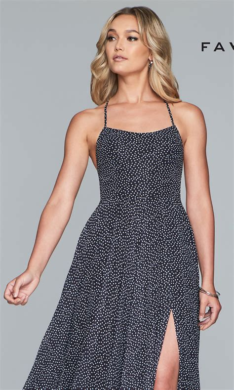 Polka Dot Prom Dress