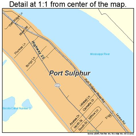 Port Sulphur LA Map