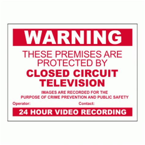 Protected by Premise Closed Circuit TV