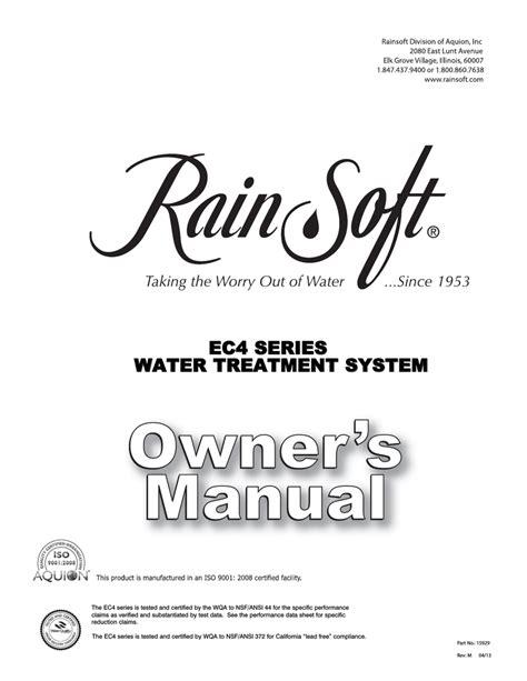 RainSoft EC4 Service Manual