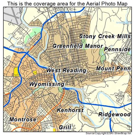 Reading PA Map