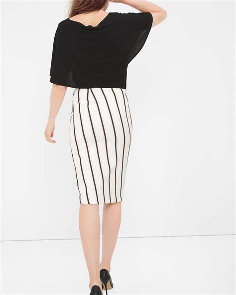 Slit Stripe Pencil Dress