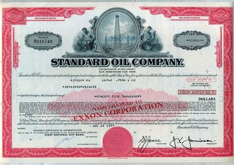 Standard Oil Company Stocks
