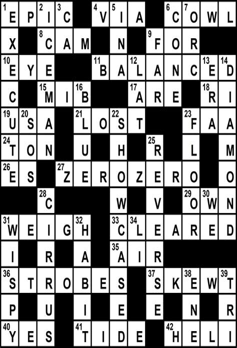 Surveying Instrument Crossword