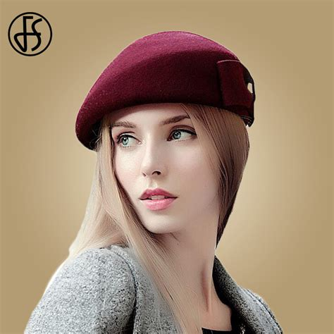 White Wool Beret for Women