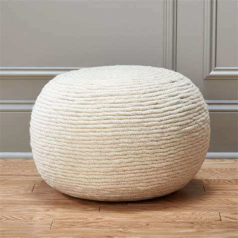 White and Gold Poufs