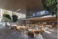 State Plaza Mac Store by Ultra Thin Macbook Shaped Roof Tops New Apple Store In