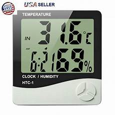 Image Clock Temperature Humidity Meter Electronic by Thermometer Indoor Digital Lcd Hygrometer Temperature