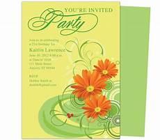 gerbena birthday invitation templates use with word