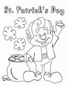St Patricks Day Coloring Pages >> Disney