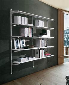 libreria a scaffali socrate 39 libreria a parete casa ufficio in acciaio 196 x