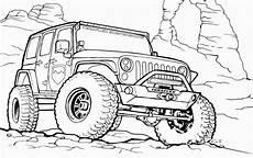 kleurplaat auto jeep