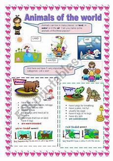 animals of the world esl worksheet by trosmi 241 a