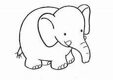 Elefant Vorlage Ausschneiden - ausmalbilder elefanten 05 ausmalbilder tiere