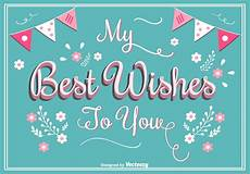 best wishes for best wishes greeting card free vectors clipart