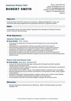 assistant pastry chef resume sles qwikresume