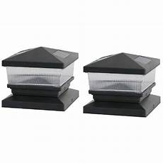 deck impressions solar black cap with 6 in 6 in adapter 2 47570 the home depot