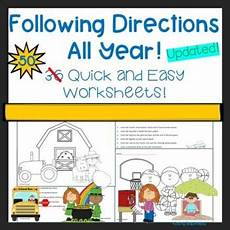 teaching directions year 1 11789 following directions all year by kathy babineau tpt