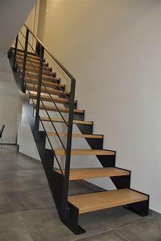 escalier bois droit escalier droit metal et bois