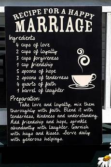 customizable wood recipe for happy marriage quote
